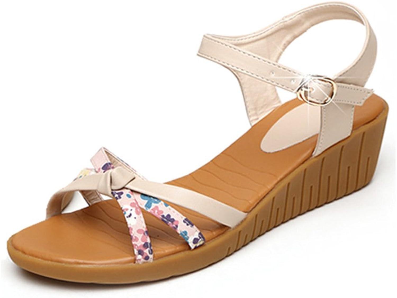 SPLNWTFHCNWPCB Women Sandals Platform Thick Soled shoes Wedges shoes Flat Platform shoes