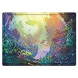 Alfombra de baño Antideslizante 50X80cm,Arte Animales Marinos, Submarino con arrecifes de Coral y Peces de Colores Acuario Arte artísticoAlfombrilla Lavable a máquina con absorción de Agua Blanda