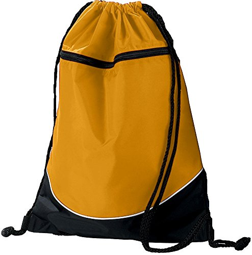 Augusta Sportswear Tri Color Drawstring Backpack Os Gold/Black/White