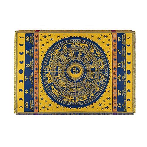 1 Stück Böhmische Tagesdecke Gestrickte Decke Baumwolle Geflochtene Boho-Decken 130 * 180 cm / 180 * 220 cm / 230 * 250 cm für Couchbezug Sofa Stuhl Bett Wohnzimmer Teppich