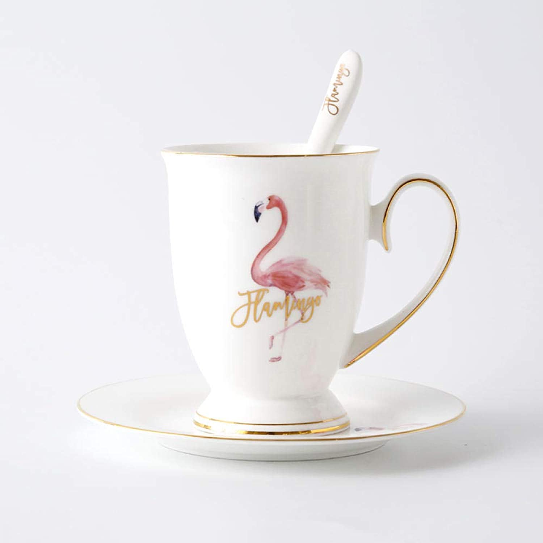 Tasse à café en céramique de la tasse à café en céramique Office de la populaire série Flamingo en porcelaine @ Tasse royale (tasse et soucoupe)