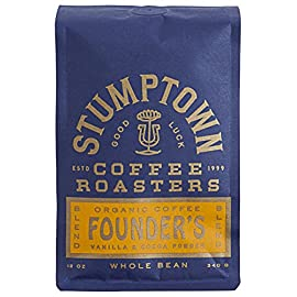 """Stumptown Coffee Roasters Hair Bend Ground Coffee 10 HAIR BENDER BLEND: Our most popular blend has clarity & complexity; Indonesia's rich textures are balanced by the classic flavors of Latin America & Africa. Tasting notes of citrus and dark chocolate CHOOSE YOUR BREW: We expertly roast coffee beans for every taste, from light to dark roasts & single origin coffees to bold blends, bringing out the full potential of every bean FRESHLY ROASTED WHOLE BEANS: Our innovative bags keep coffee fresh for 90 days if left unopened. Most bags will show both """"roasted on"""" and """"best by"""" dates. Enjoy all coffee within 2 weeks of opening"""