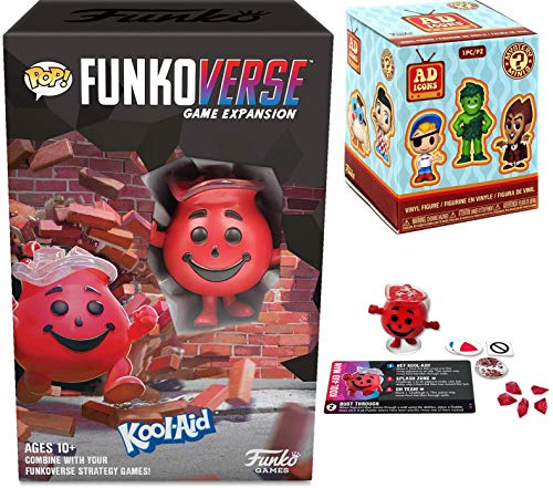 Splash Red Figure Ad Icons Mascot Mystery Minis Vinyl Box Bundled with Kool-Aid Man Funkoverse Game Retro Character Expansion Pack 2 Items