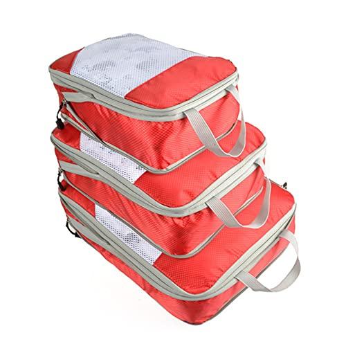 Set De Organizador De Equipaje Viaje, Impermeable Organizador De Maleta Bolsa con Bolsa De Zapato, Nylon Organizador De Equipaje Bolsas para Ropa Sucia De Viaje (C)