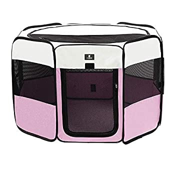 X-ZONE PET Portable Foldable Pet Dog Cat Playpen Crates Kennel/Premium 600D Oxford Cloth,Removable Zipper Top Indoor and Outdoor Use
