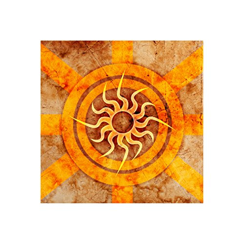 InstyleArt - Imagen sobre lienzo de meditación (marco de madera, 20 x 20 cm), diseño de mandala