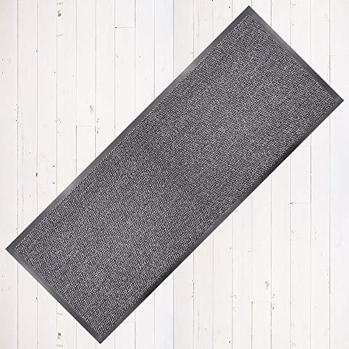 Smutsfångande matta löpare 60 cm x 160 cm grå/svart. Med halkfri baksida RRP â EUR 29,99