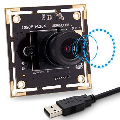 SVPRO 3.6mm Lens Camera Board USB 1080P, Low Lux USB Camera Modulo con Microfono, Sony IMX322 Mini Webcam UVC OTG Supportato Sicurezza Cam H.264 Uscita Video