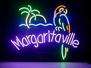 Margaritaville Metal Frame Neon Sign 4232CM Real Glass Neon Sign Light for Beer Bar Pub Garage Room. …