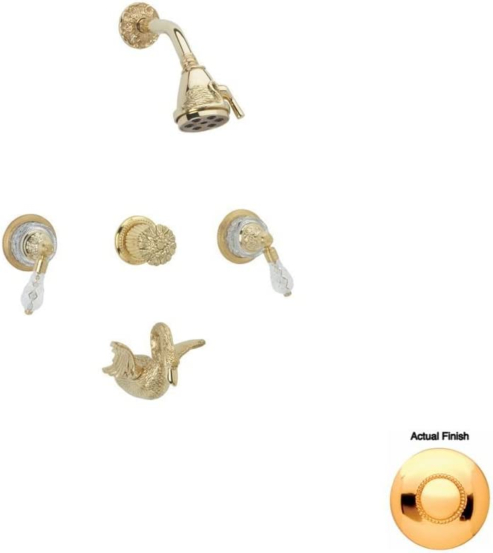 Ranking TOP8 Phylrich K2183_025 - Swan Three Handle Tub Set Shower and Super intense SALE