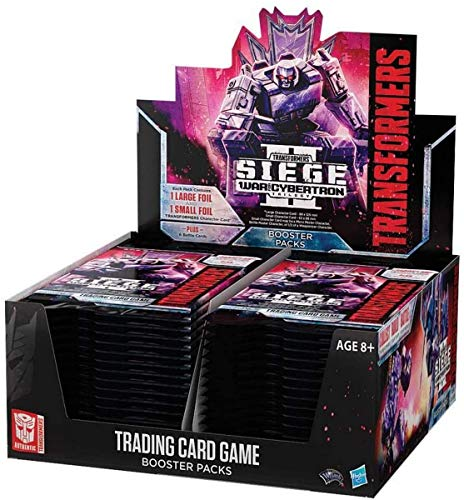 Transformers TCG: War for Cybertron: Siege II | 30 Booster Pack (240 Cards) | Trypticon Pack (4 Cards)
