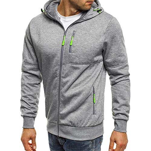 Men's Hoodie Mens Casual Hoodies Full Zip Long Sleeve Jacket Autumn Winter Hooded Sweatshirt Long Sleeve Lightweight Outdoor Games Sweatshirt Fashion Joggers Mens XL