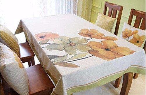 HXC Home beige groen geel bloem gebloemd minimalistisch tafelkleed katoen linnen rechthoekig ruimte niet strijken milieuvriendelijk tafellaken tafellaken