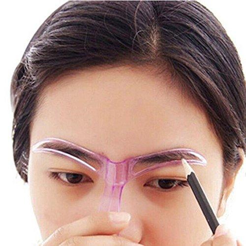 Pochoir à sourcils Mosunx - Outil de beauté professionnel - Maquillage - Toilettage - Dessin - Noir - Couleur aléatoire