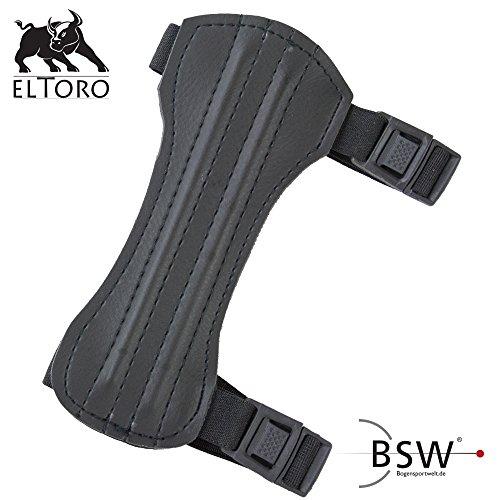 elToro Traditioneller Armschutz Kurz - Black Edition; Zubehör für Bogenschießen, Pfeil und Bogen, Bogensport