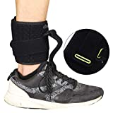 HNYG 11.8' Drop Foot Brace Ankle Support Orthosis - Adjustable AFO Brace for Shoes - Comfortable Ankle Wrap Strap for Foot Drop Support, Plantar Fasciitis, Achilles Tendon Sprains