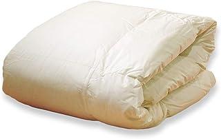 眠り姫 日本製 羽毛肌布団 ダウンケット ホワイトダックダウン 93% シングルロング アイボリー 150×210cm 60サテン 超長綿 400dp かさ高165mm以上