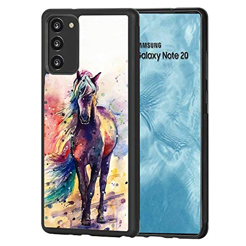 ZZGTA Compatible with Samsung Galaxy Note 20 Case Horse Painting Tire Anti-Slip Texture Cute Slim Non-Slip Shockproof Bumper Full Protection Back Cover for Samsung Galaxy Note 20 5G 6.7 Inch