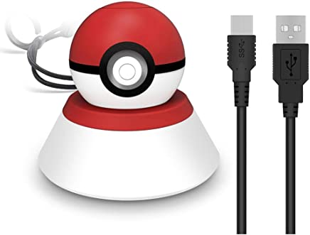 Poke Ball Plus Charger Stand with USB Cable, Womdee Pokemon Fast Charging Stand Holder for 2018 Nintendo Switch Poke Ball Plus Controller
