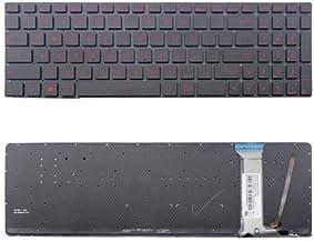 New US Black with Red Words Backlit Laptop Keyboard Without-Frame For ASUS N550 N550J N550JA N550JK N550JV N550L N550LF Q550 Q550L Q550LF G550 G550J G550JK R750JK R750JV N750 N750J N750JK N750JV Serie