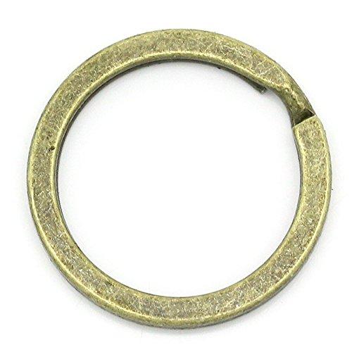 Sadingo sleutelringen rond - bronskleurig - 20 stuks - 2,5 cm - sleutelhanger knutselen