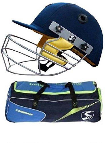 SG Combo de -Dos una Bolsa de críquet 'Combopak' y un Casco Smartech para Hombre – Kit de críquet