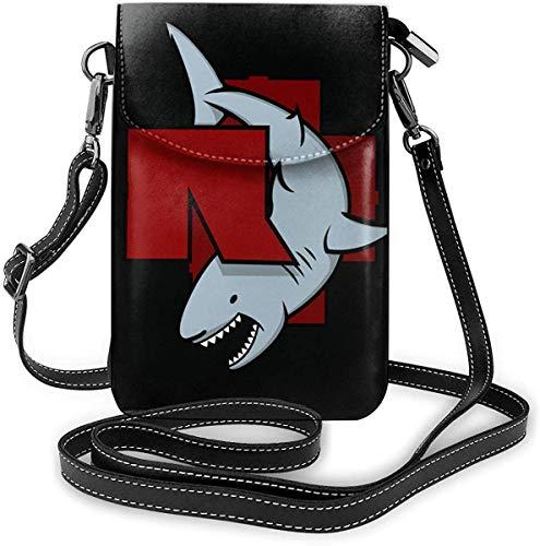gxianyuyib Ram-ms-tein band bis radio stärke einer frau leichte kleine umhängetaschen handy geldbörsen brieftasche für frauen schwarz