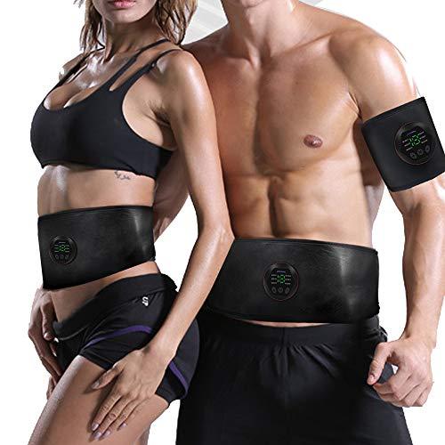 EMS Muskelstimulator bauchtrainer Elektronische Muskelstimulation kein Notwendigkeit Gel ABS Trainingsgerät Professionelle USB Elektrostimulation Bauchmuskeltrainer Fitnessgürtel für Damen Herren