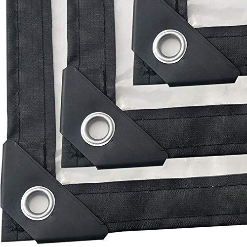 MJJ Lonas Transparente Impermeable, Tarpa Resistente a la Intemperie Resistente a Prueba de Intemperie con toldos de Ojales, Tapa Plegable Plegable Cubierta de Tapa a Prueba de Lluvias,2X3M