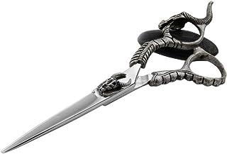 Professional Barber 6 Inch High-Grade Antelope, Haircut Flat Scissors + Tooth Scissors Tools Set Scissors (Color : Silver)