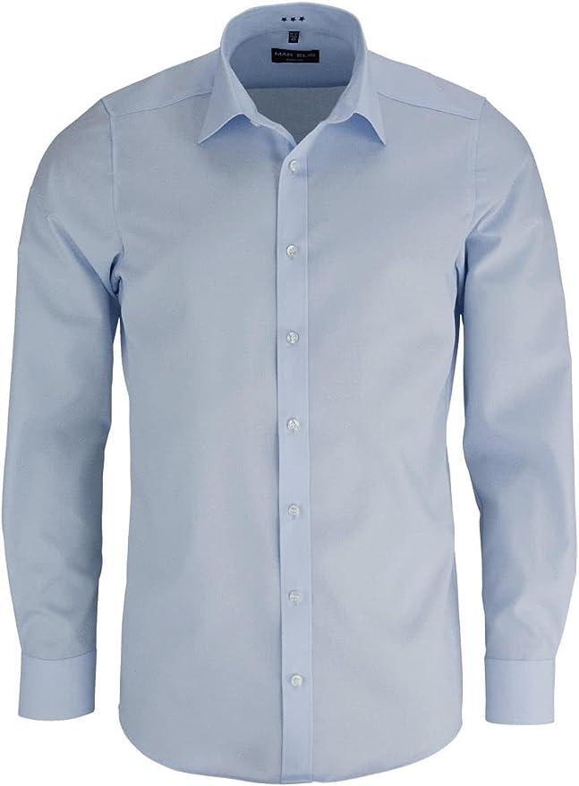 Marvelis - Camisa formal - Básico - Manga Larga - para hombre
