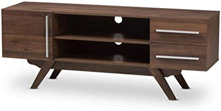 A to Z Furniture-Ashfield Wood TV Stand in Brown Color