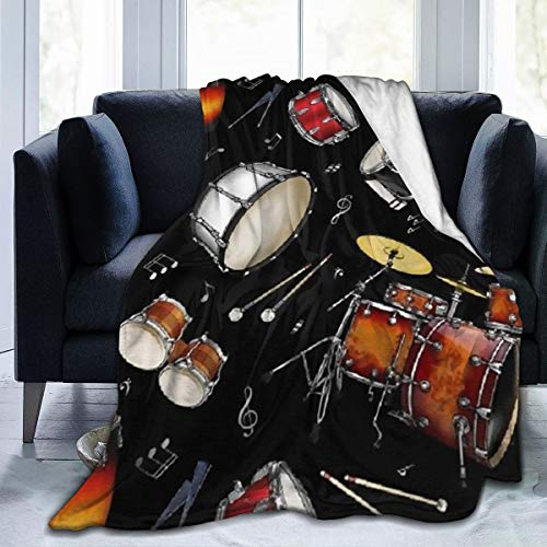 Black Drum Throw Blanket