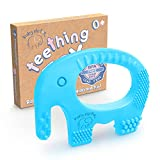 Baby Boy Teething Toys - BPA Free Silicone Chew Toy - Cute Easy to Hold Soft and Highly Effective Elephant Teether Rings, Teethers Rings Best for 0-6 6-12 Months Christmas Gifts Stocking Stuffers