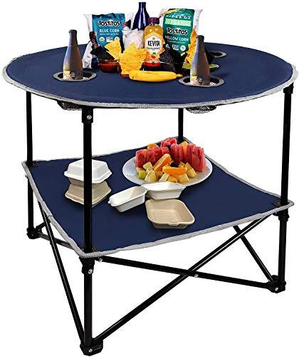 SKYHY224 Folding Table Mesa de Picnic Plegable Ligera Liviana de Hangou Camping con Bolsa de Transporte, Prefecto para al Aire Libre, Picnic, Playa, Senderismo, ET