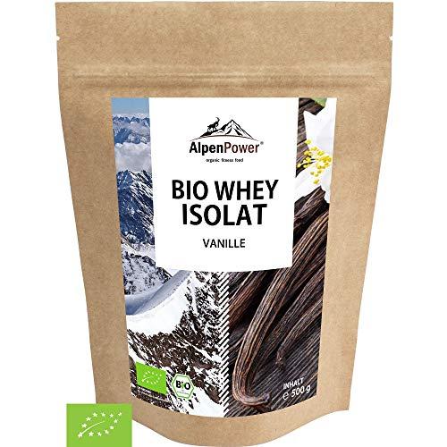 ALPENPOWER | BIO WHEY ISOLAT Protein Vanille | Ohne Zusatzstoffe | 100{5fa54319878ab1a12e0a9447f600b73517984dfe68fc1a8c787a1121dde5eb7f} natürliche Zutaten | Bio-Milch aus Bayern und Österreich | Ökologisch & nachhaltig | Hochwertiges Eiweißpulver | 500 g