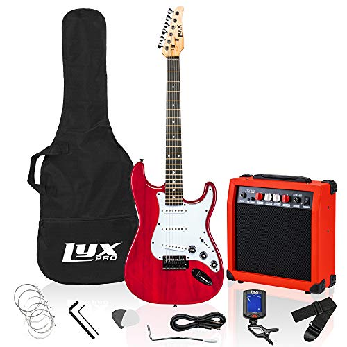 LyxPro 39 inch Electric Guitar Kit Bundle with 20w...