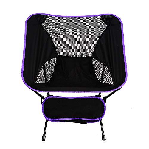 ZMCOV Folding Camp Chair Heavy Duty/Portable Fishing Chair/Beach Chair/Garden Chair/Strong Sturdy Outdoor Chairs,Purple