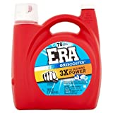 Era 3X Oxibooster High Efficiency Liquid Laundry Detergent 78 Load, 150 Ounce