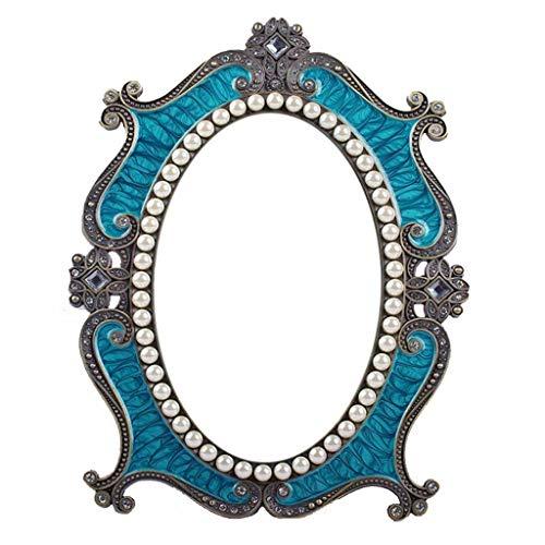 NYKK Maquillage Miroir Electronique Miroir de Maquillage rétro Maquillage Pearl Bureau Miroir for Femmes Simple Face Miroir Miroir de Maquillage Grand