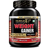 MuscleXP Weight Gainer - With 25 Vitamins and Minerals, Digestive Enzymes, Double Chocolate