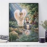 N / A Angel Girl Portrait DIY Decoración del hogar Pintura sin Marco 50cmX62cm