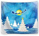 xkjymx Tela Colgante Tela Decorativa Navidad Estampado Tapiz Imagen 14 150X150cm