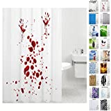 Duschvorhang, viele schöne Duschvorhänge zur Auswahl, hochwertige Qualität, inkl. 12 Ringe, wasserdicht, Anti-Schimmel-Effekt (180 x 200 cm, Blood Hands)