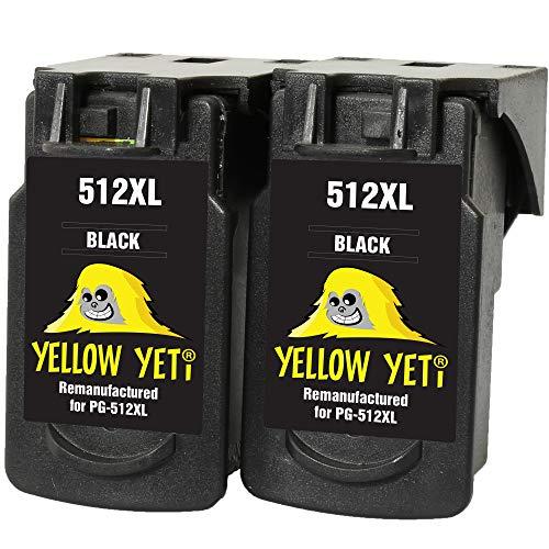 Yellow Yeti PG-512XL PG-512 XL Cartuchos de Tinta remanufacturados Negro para Canon Pixma MP230 MP240 MP250 MP252 MP260 MP270 MP280 MP282 MP480 MP490 MP495 MP499 iP2700 iP2702 MX320 MX330 MX350 MX360