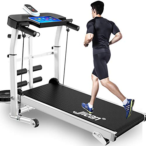 Professional Treadmill, Incline Foldable Adjustable Speed Mechanical Treadmills, Fitness Weight Exercise Equipment Electric Running Machine ,for Home And Office Walking / Twisting Waist / Sit-Ups / Pulling Rope