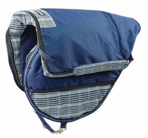 Weatherbeeta Roma Dura-Mesh All Purpose Saddle Bag Navy/Grey