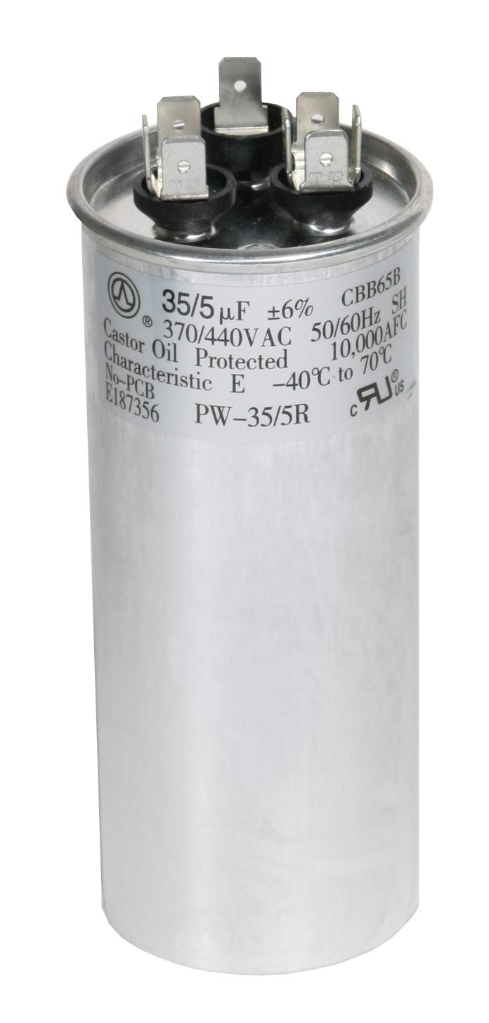capacitor for ac amazon compowerwell 35 5 mfd uf pw 35 5 r 370 or 440
