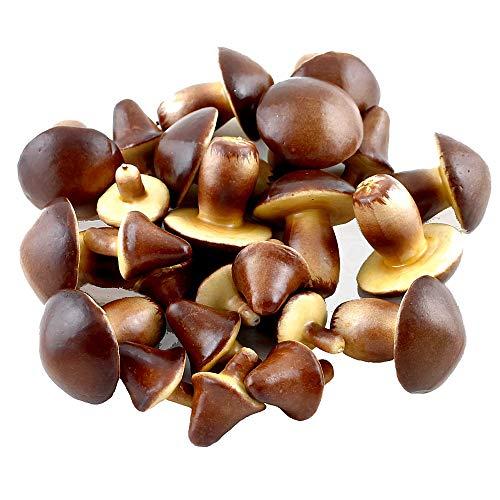 TGG 24 x Deko Pilze in 2 Größen, braun/beige, PU-Schaum, künstlich !!!