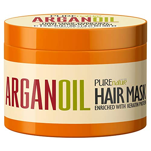 Argan Oil Hair Mask - Deep Conditioner Treatment for Dry Damaged Hair - Moroccan Split End Moisturizer, Hydrating Product